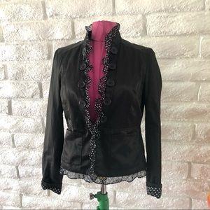 2b Bebe Black casual lace blazer Sz L